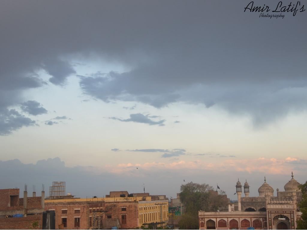 City under Dark  Clouds