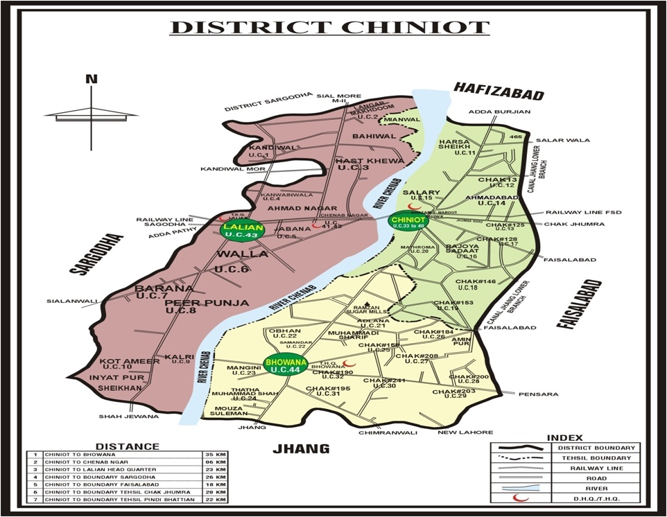 Chiniot Official Map