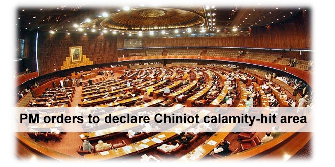 PM orders to declare Chiniot calamity-hit area